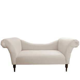 Linen Chaise Lounge by House of Hampton