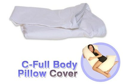 White Cotton Cover for C - Full Body Pillow