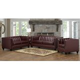 Telfair 3 Piece Living Room Set by Foundry Select