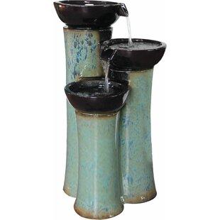 Alfresco Home Ceramic Fountain