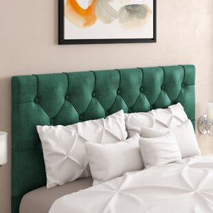 Heng Diamond Button Tufted Upholstered Panel Headboard by House of Hampton