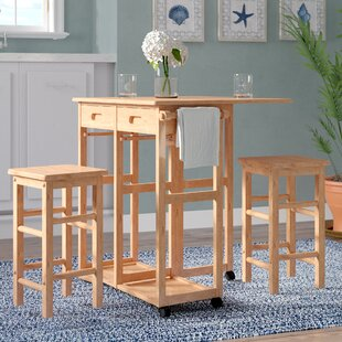 Wynyard 3 Piece Pub Table Set by Beachcrest Home Find