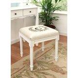 Vantassel Solid Wood Vanity Stool by Ophelia & Co.
