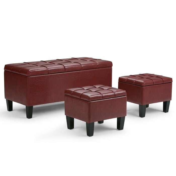 Fabulous Washington Mews 3 Piece Storage Bench Set Ncnpc Chair Design For Home Ncnpcorg