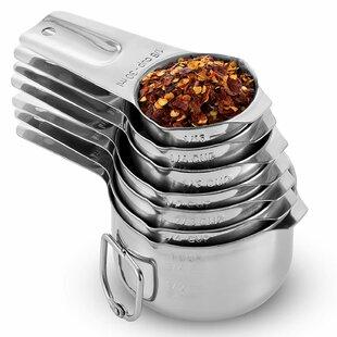 Premium Grade 7 Piece Stainless Steel Measuring Cup
