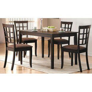Ismail 5 Piece Dining Set Red Barrel Studio