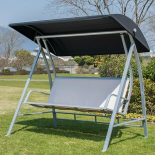 Latura Outdoor PVC-coated polyester Porch Swing with Stand by Latitude Run
