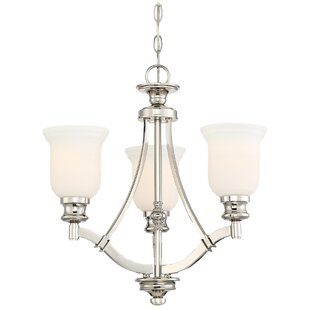 Reviews Ameche 3-Light Shaded Chandelier By Darby Home Co