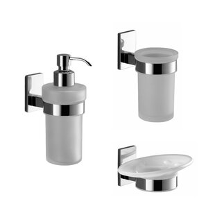Gedy by Nameeks Maine 3-Piece Bathroom Accessory Set