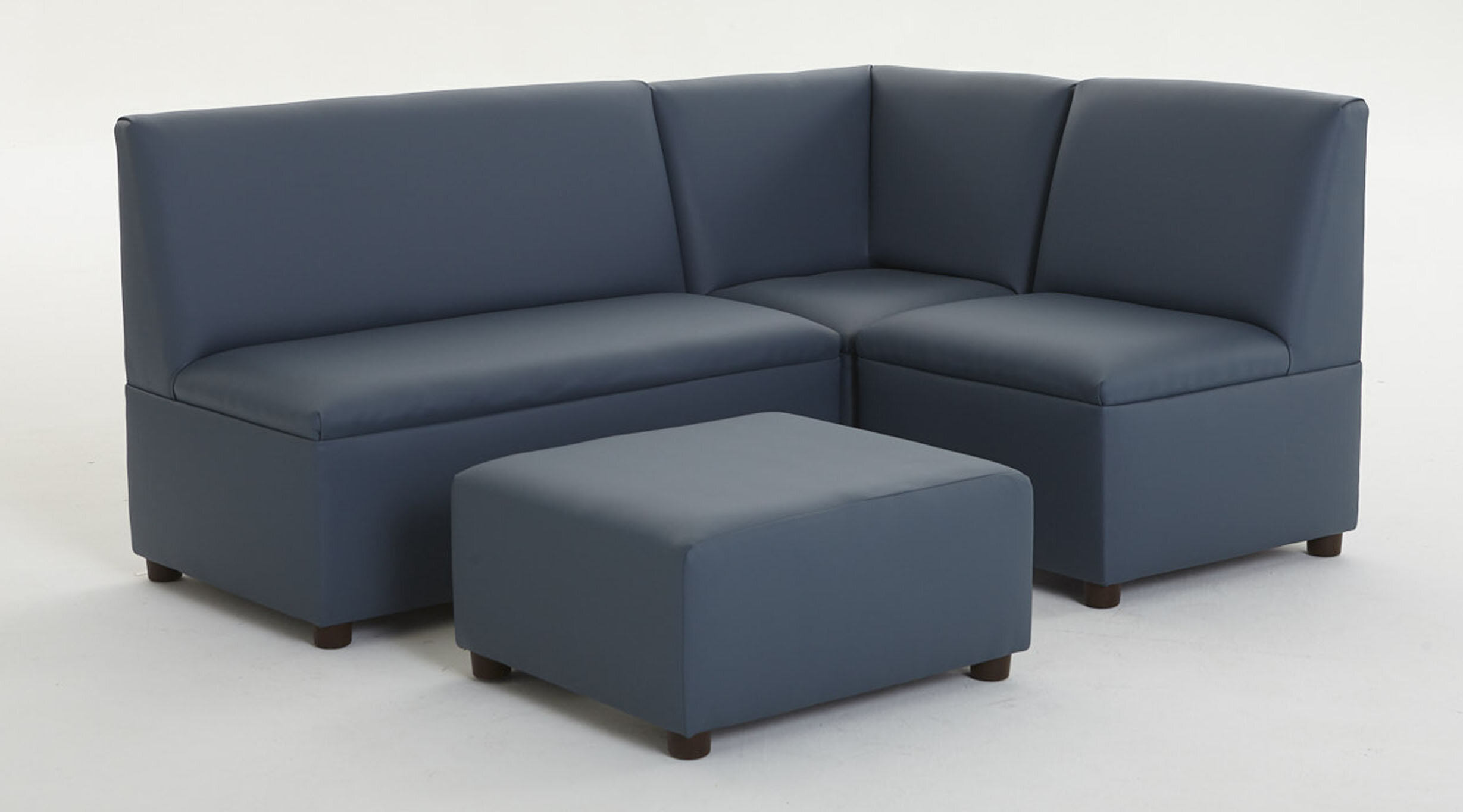 Kids Sectional with Ottoman