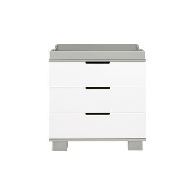 babyletto Modo Changing Dresser Color: Gray/White