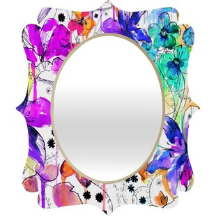 Deny Designs Holly Sharpe Lost in Botanica 1 Quatrefoil Wall Mirror
