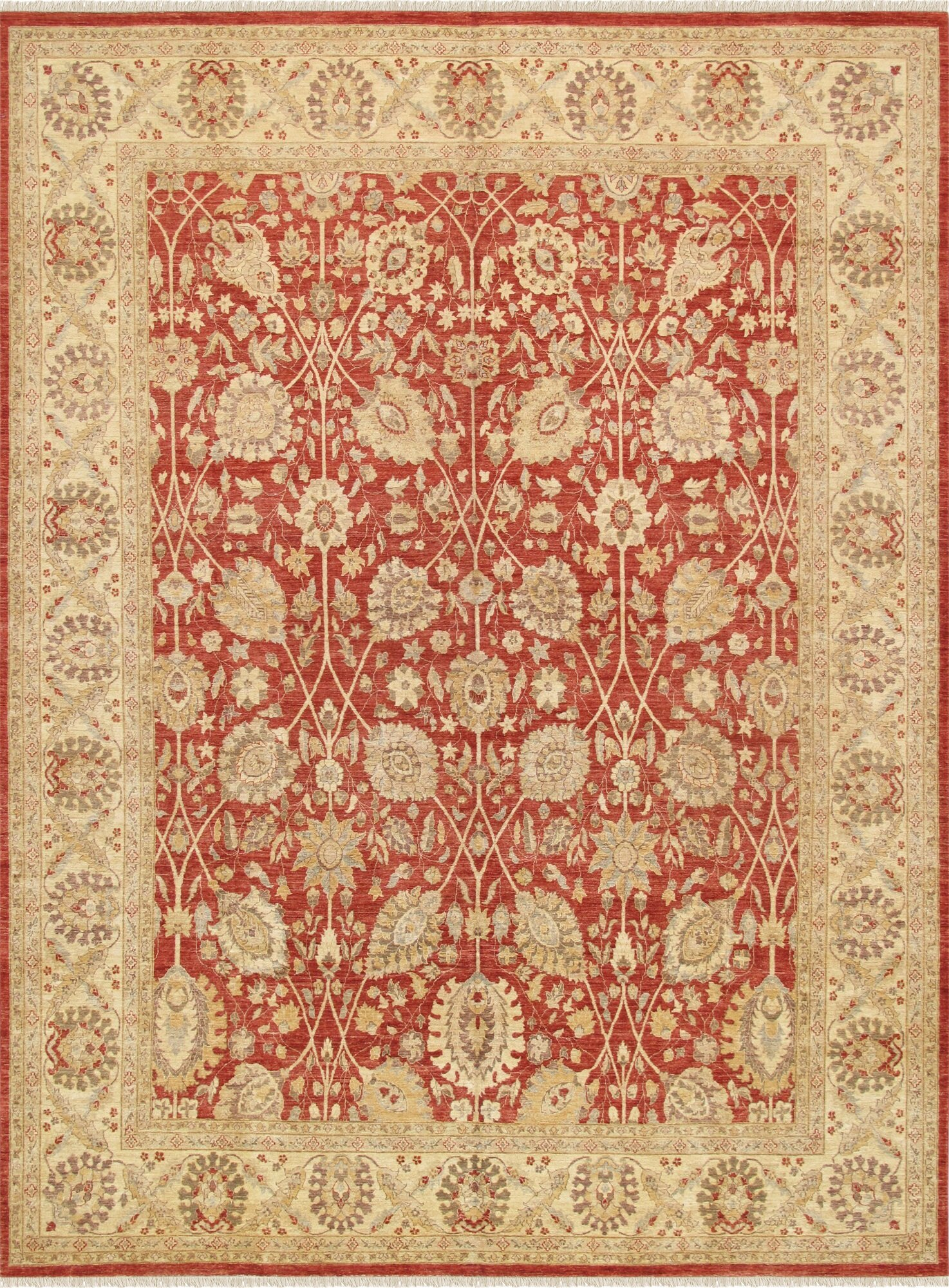 Pasargad Ferehan Hand Knotted Rust Area Rug Perigold