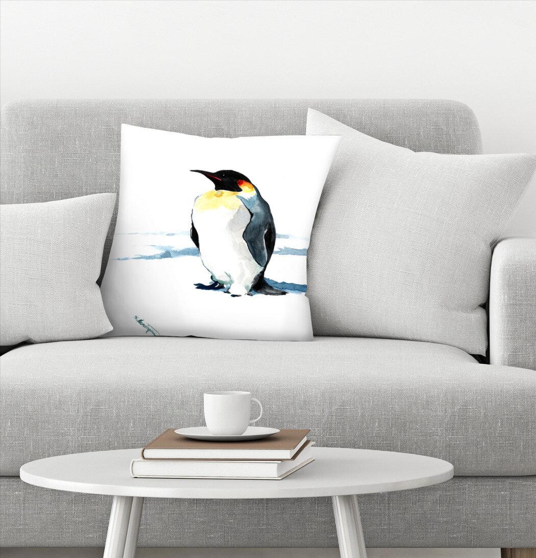 East Urban Home Suren Nersisyan Emperor Penguin Throw Pillow Wayfair