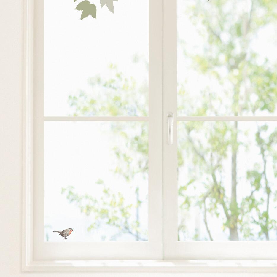 Retrospect group bird and ampelopsis window sticker wayfair