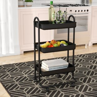 Pellen Kitchen Trolley With Stainless Steel Top By 17 Stories