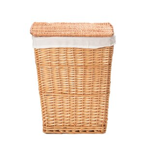 Wicker Rectangular Laundry Basket With Liner By Brambly Cottage