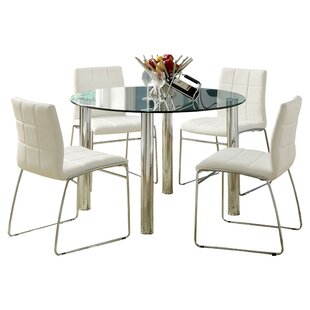 Mirrored kitchen dining room sets youll love rockaway 5 piece dining set watchthetrailerfo