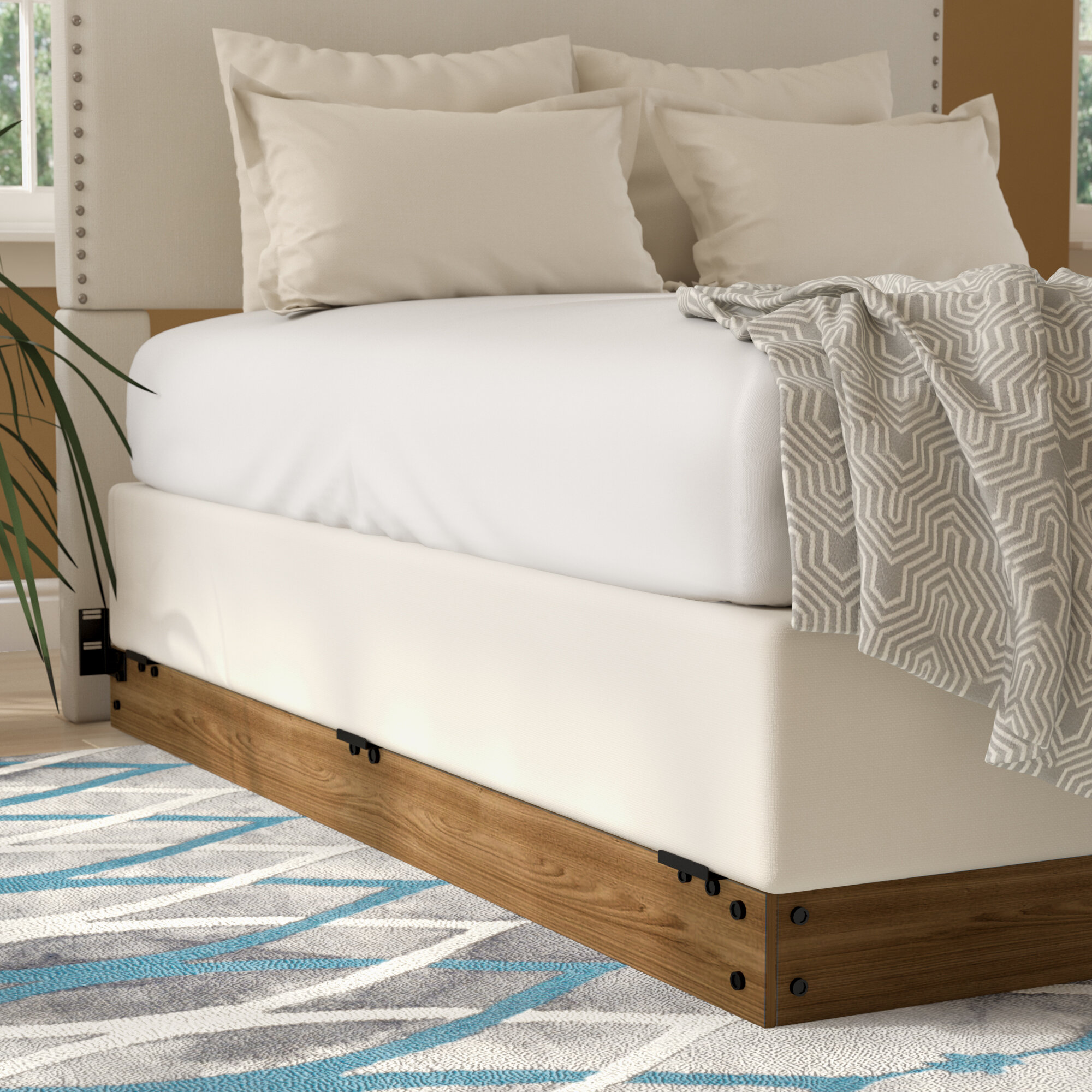 Zipcode Design Winston Wood Bed Frame for Box Spring & Reviews | Wayfair