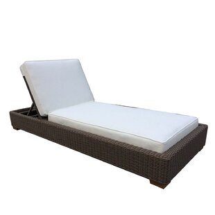 Hobson Reclining Chaise Lounge With Cushion by Bayou Breeze 2019 Sale