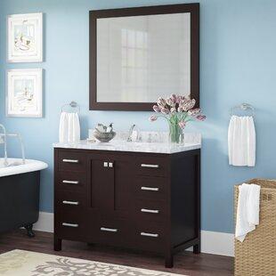 Affordable Price Harewood 43 Single Bathroom Vanity Set with Mirror ByAndover Mills
