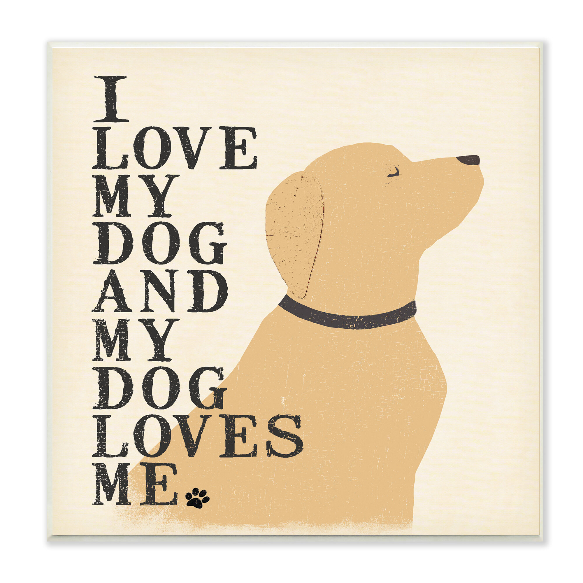 Andover Mills \'I Love My Dog and My Dog Loves Me\' Textual Art Wall ...