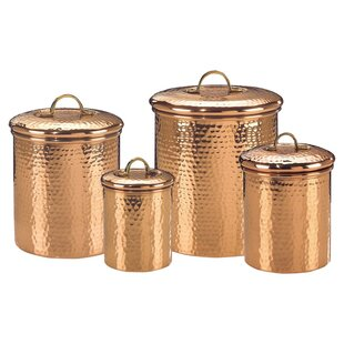 Delicieux Hammered 4 Piece Kitchen Canister Set