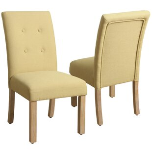 Traynor 4-Button Tufted Side Chair (Set of 2) Alcott Hill