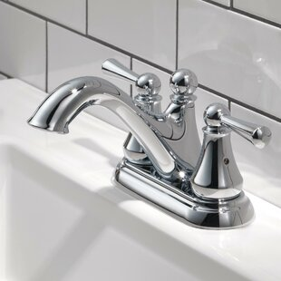 Delta Haywood Centerset Bathroom Faucet with Optional Pop-Up Drain Assembly