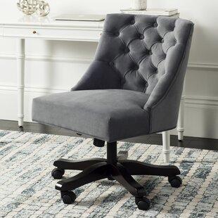Tufted Swivel Desk Chair   Wayfair