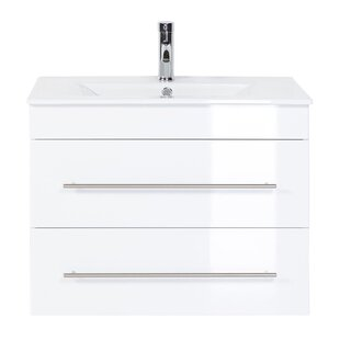 Casa Infinity 75cm Wall Hung Single Vanity Unit By Belfry Bathroom