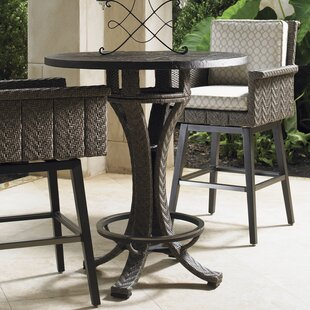 Tommy Bahama Outdoor Olive Wicker Bistro Table