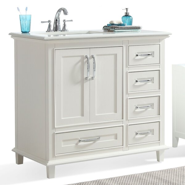 36 Inch Bathroom Vanity With Offset Sink Simpli Home Ariana 37