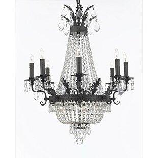 Rosdorf Park Ginnie Crystal 12-Light Chandelier