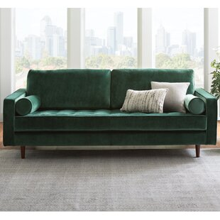 Olive Green Velvet Sofa Wayfair