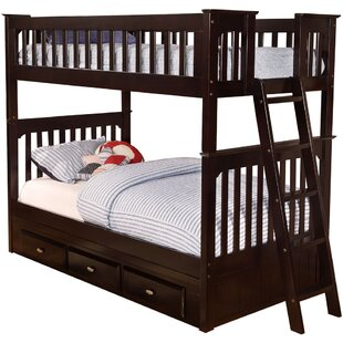 Eichorn Twin over Twin Bunk Bed with Trundle by Harriet Bee