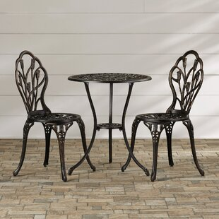 August Grove Wilkins 3 Piece Bistro Set