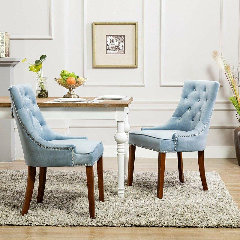Rosdorf Park Wallen Tufted Upholstered Side Chair (Set of 2)
