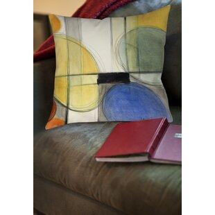 Geometric Printed Square Throw Pillow