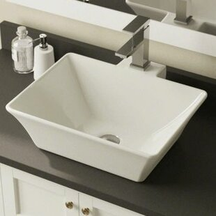 Best Reviews Vitreous China Rectangular Vessel Bathroom Sink By Polaris Sinks