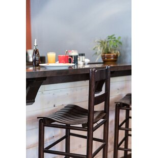 Pellerin Ladder Back 24 Bar Stool Gracie Oaks