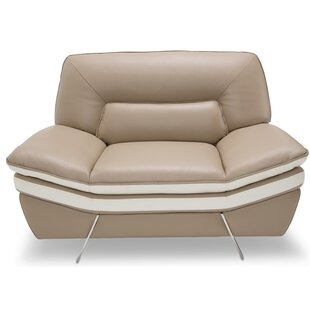 Michael Amini Mia Bella Carlin Leather Club Chair