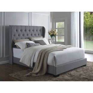 Mamadou Wood Framed Upholstered Panel Bed by Willa Arlo Interiors #1