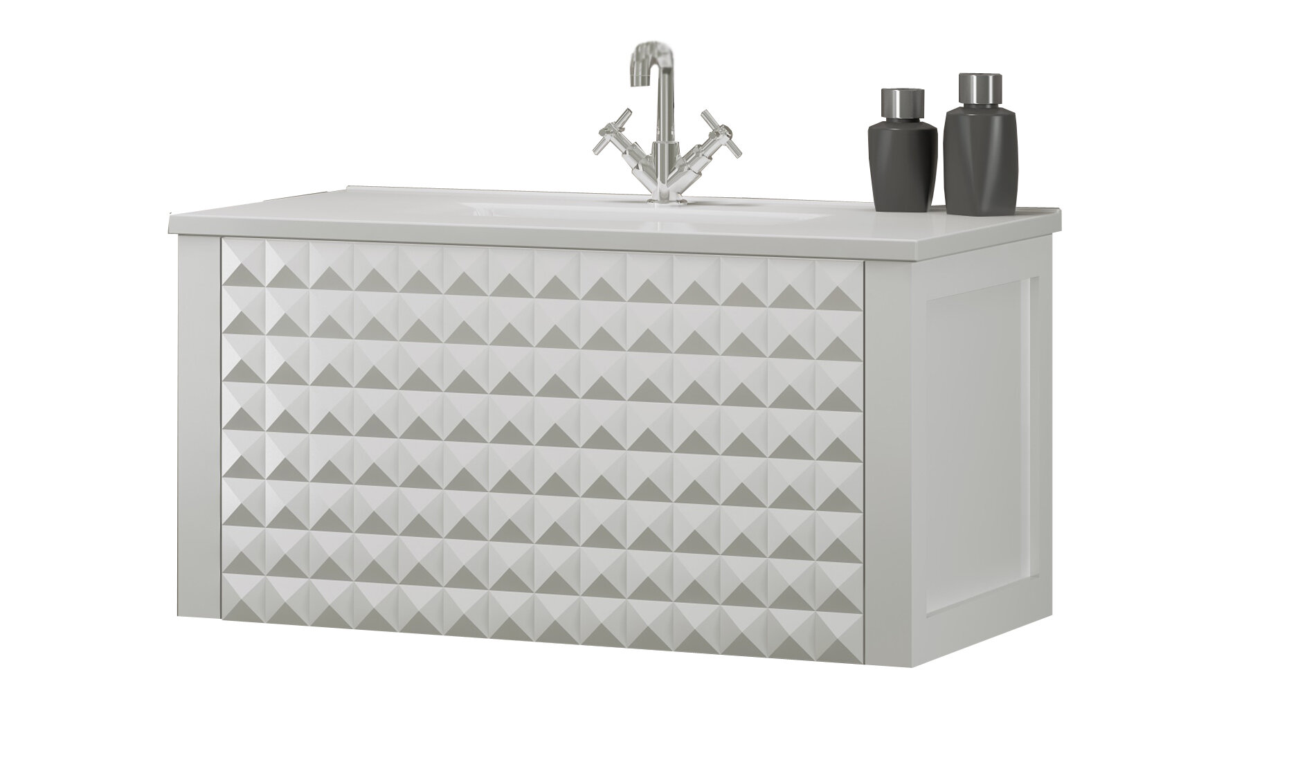 Ivy Bronx Westwood New Diamond 24 Wall Mounted Single Bathroom Vanity Set Wayfair