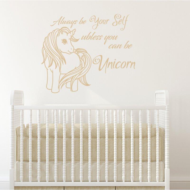 Unicorn Nursery Bedroom Wall Decal