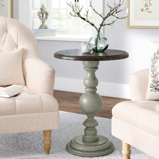 Serpentaire Pedestal Chairside Table by Lark Manor