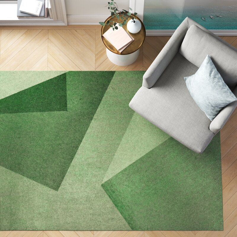 Foundstone Alysha Abstract Green Area Rug Reviews Wayfair