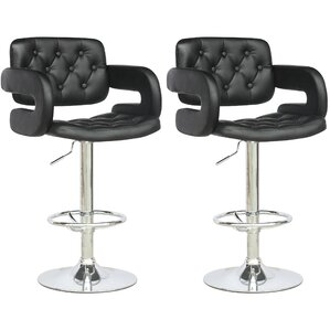 David Adjustable Height Swivel Bar Stool (Set of 2) by Wade Logan