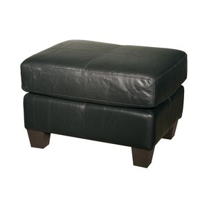 Mercer Leather Ottoman by Coja