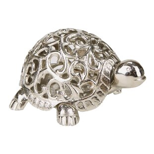 Mind Reader Turtle Metal Lantern
